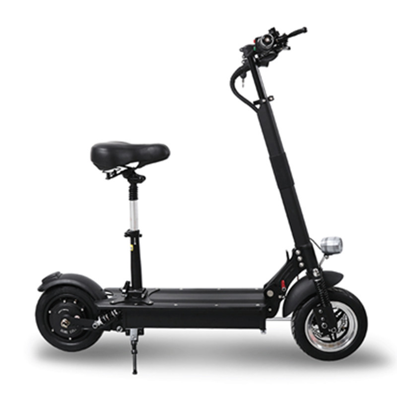 10 Inch Electric Skateboard <font><b>Scooter</b></font> Two Wheels Electric <font><b>Scooters</b></font> Off Road 52V <font><b>1000W</b></font> Powerful Electric <font><b>Scooter</b></font> Seat For Adult image