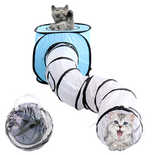 2019 NEW Design Tent S-type Foldable Pet Cat Tunnel Indoor Outdoor Training Toy for Rabbit Animal Play Tube