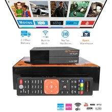 GT Media V9 Super DVB-S2 Freesat Satellite Receiver V8 New Version H.265 WIFI+1Year Europe Spain DE CCcam TV decoder
