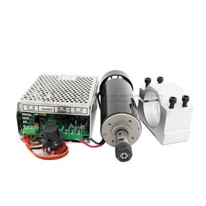 Image 3 - O envio gratuito de 0.5kw ar refrigerado eixo er11 chuck cnc 500w eixo do motor + 52mm braçadeiras fonte alimentação regulador velocidade para diy cnc