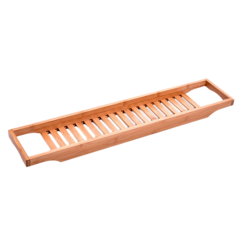 Estante para bañera de bambú bandeja de baño estante Caddy ducha bañera libro bandeja soporte estantes de baño Almacenamiento de baño soporte bandeja Estante de baño Sokoltec hw47885wh