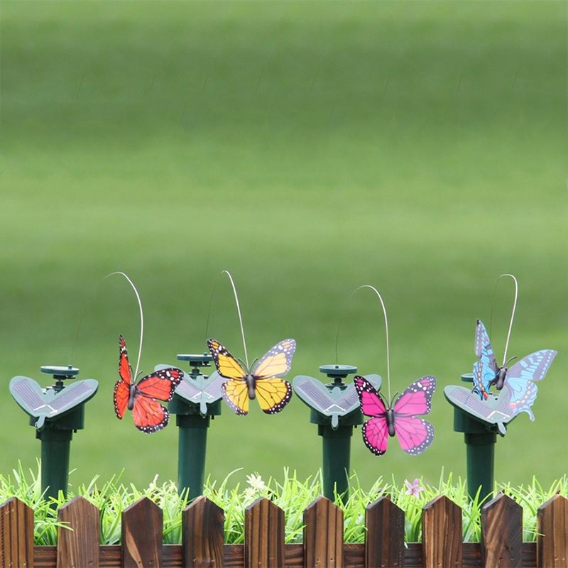 NEW Flying Fluttering Hummingbird Funny Solar Toys Powered Birds Butterflies For Garden Decoration Random Color 1PC