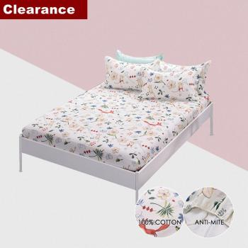 100% Cotton Mattress Cover Fitted Sheet Protector Sheet Air-Permeable Home Textile Bed Linens with Elastic 1 pc Clearance Sale image