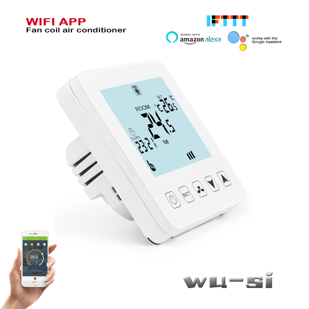 2P / 4P Heating And Cooling WIFI Thermostat, 0.5 Degree Precision Temperature Difference,work With Alexa Google Home