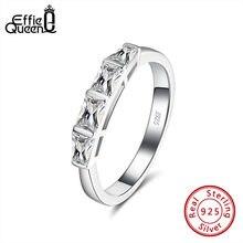 Effie queen 4 Большое Квадратное хрустальное кольцо из 100%
