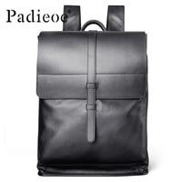 Luxury Designer Genuine Leather Men Backpack Large Capacity Laptop Backpack High Quality Business Men Leather Backpack Mochila