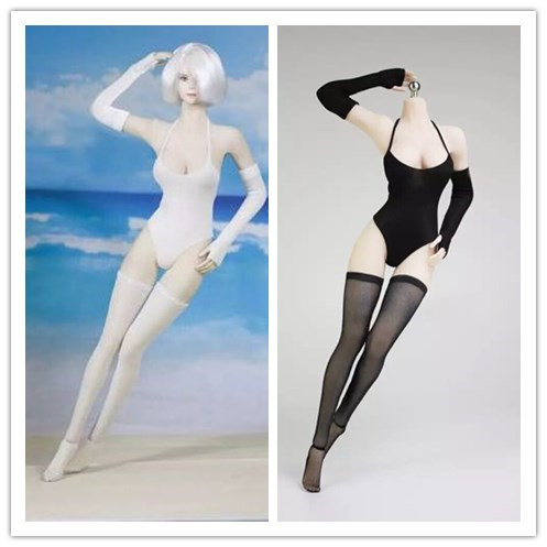1/6 Scale NieR:Automata 2B Sister Underwear <font><b>Sexy</b></font> Swimsuit for Phicen S10D S12D S09C S07 Body Toy Figure image