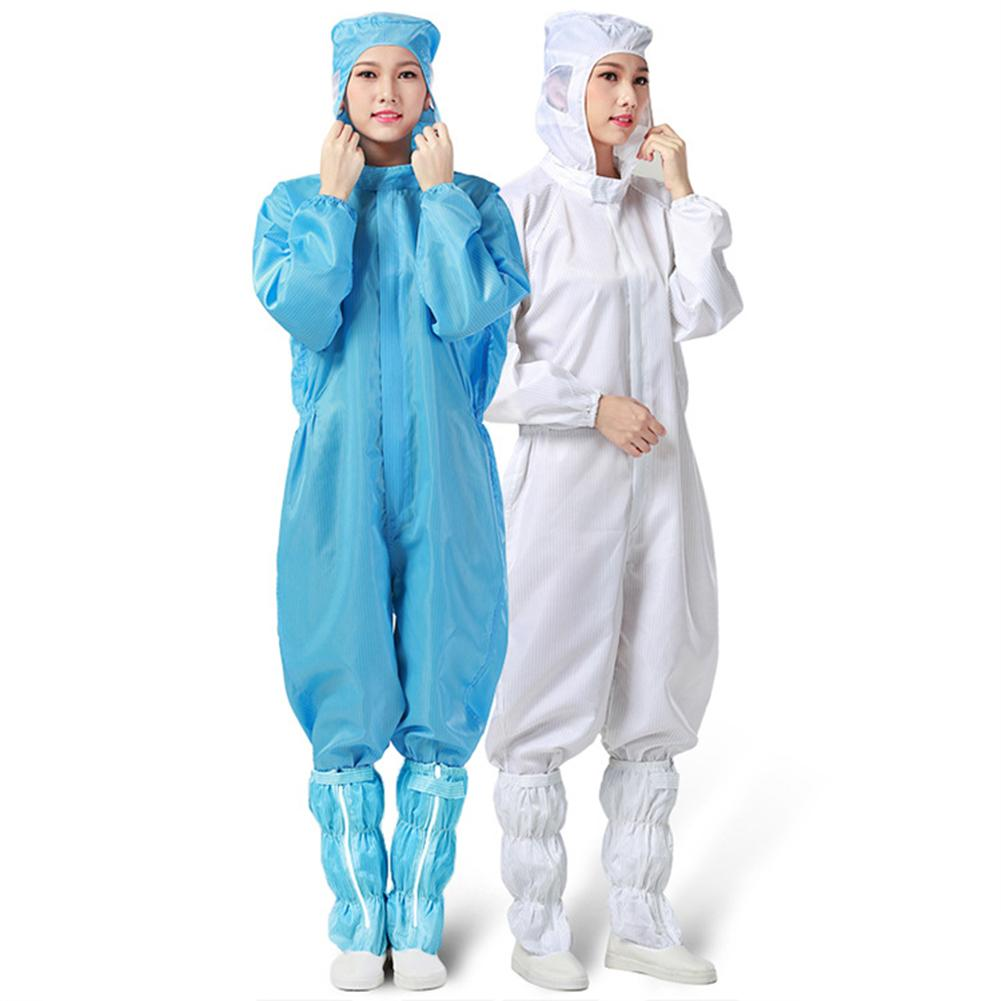 1PC Reusable Protective Clothing Anti-static Dustproof Protection Overall Suit With Hood Outdoor Antibacterial Protective Suit