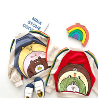 Tonytaobaby Autumn and Winter Clothing New Children's Clothing Rainbow Cartoon Coat Baby Jacket Girls Coat Boys Jackets