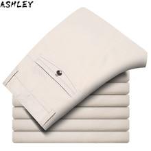 Suit Pants Straight Mens Stretch Formal Office Dress Trousers Overalls Black khaki beige Plus size 28-42 2020 New