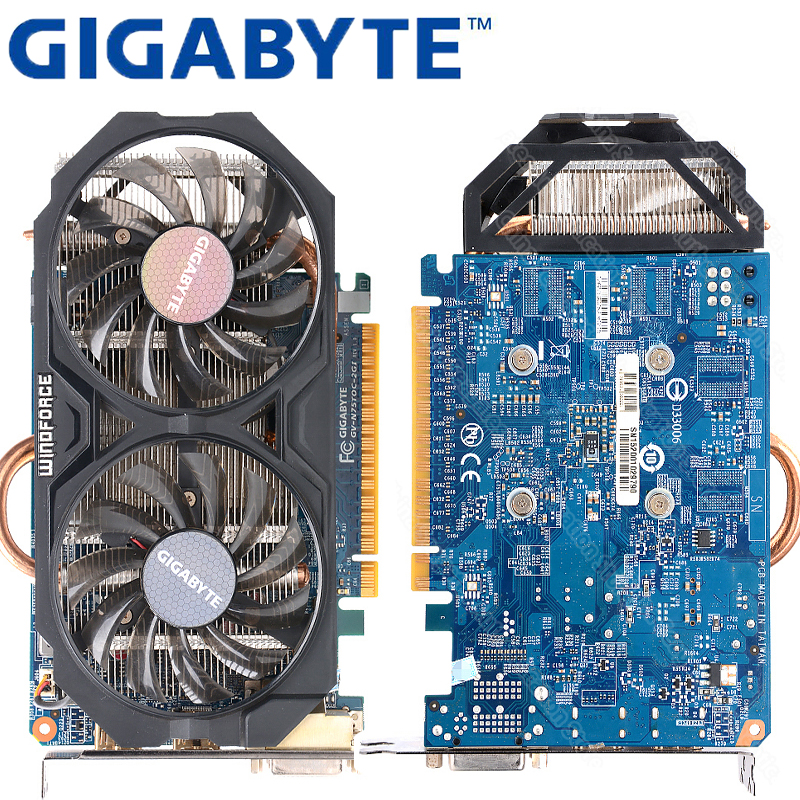 Asus GTX-750TI-OC-2GB GTX750TI GTX 750 TI 2G D5 DDR5 128 Bit PC Desktop  Graphics Cards PCI Express