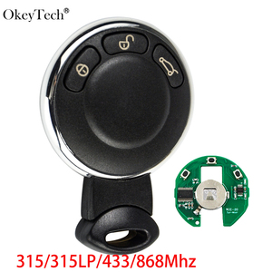 Okeytech 3 Buttons Smart Car Remote Key For BMW MiNi Cooper 315/315LP/433/868Mhz Auto Smart Card Keyless ID46 Chip PCF7952(China)