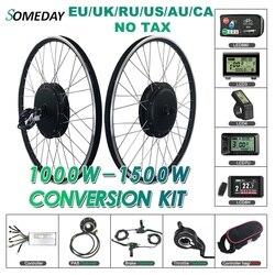 Pewnego dnia 48V 1000W/1500W zestaw do zamiany na rower elektryczny tylne koło silnikowe piasty BLDC 20-29 cali koło 700C zestaw do konwersji roweru na elektryczny