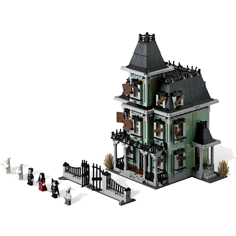 Lepinblock Lepining  City Monsters Fighter The Haunted House Firehouse Headquarters Building Blocks Movie Toys Kids Gifts 10228