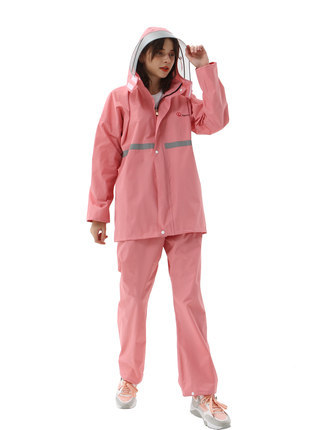 Adults Waterproof Raincoat Women Split Electric Motorcycle Rain Coat Poncho Rain Pants Suit Pink Girl Rain Jacket Impermeable 3