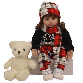 60cm Children Reborn Doll Simulation Newborn Baby Cute Princess Girl Dressed Soft Silicone Toy Lifelike Body Kids Birthday Gift