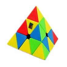Moyu meilong 3x3 pyramid cube stickerless velocidade cubo mágico educacional para crianças brinquedo de presente