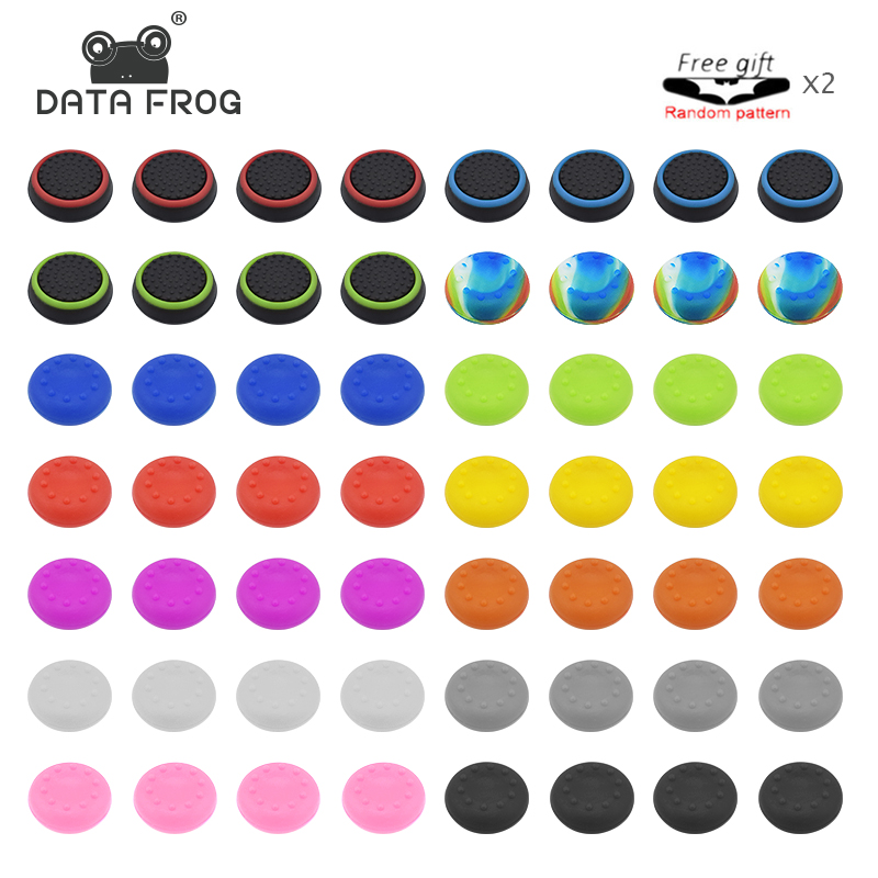 4 PCS Thumb Stick Grips Caps For PlayStation 4 PS4 Pro Slim Silicone Analog Thumbstick Grips Cover For Xbox PS3 PS4 Accessories