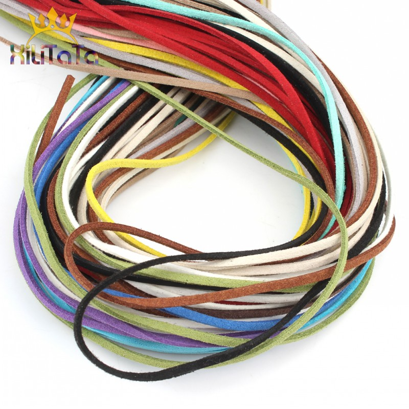 5M Flat Faux Suede 10 Colors Korean Velvet Leather Cord Rope String For DIY Jewelry Making Bracelet Necklace Accessories