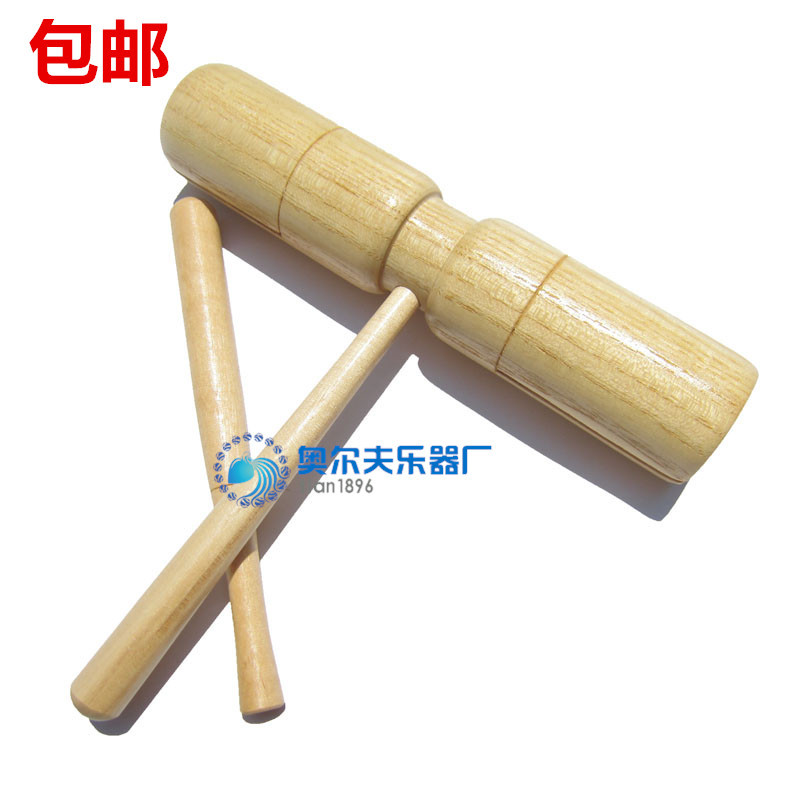 High Shiny Side Children Bass And Ditch Wood Twin Tone Block Profession Wooden Toys 10-30 Yuan Teaching Aids