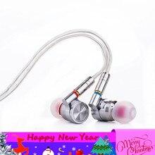 Newset Tinhifi T4 באוזן אוזניות 10mm CNT נהג דינמי HIFI בס אוזניות מתכת 3.5mm אוזניות Earbud פח p1 T3 T2 P2 T1 בתוספת