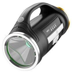 Latarka Led Handed przenośna ładowalna latarka usb reflektor wielofunkcyjna lampa Long Shots L2 9000W w Zewnętrzne narzędzia od Sport i rozrywka na