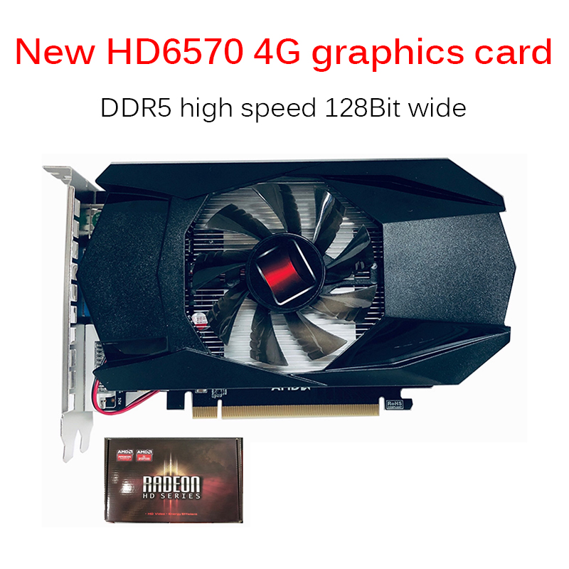 128BIT HD7670 4G AmdGraphics Card 128Bit Independent HDMI Graphics Card Video Card For Desktop Office Home PC Accessories