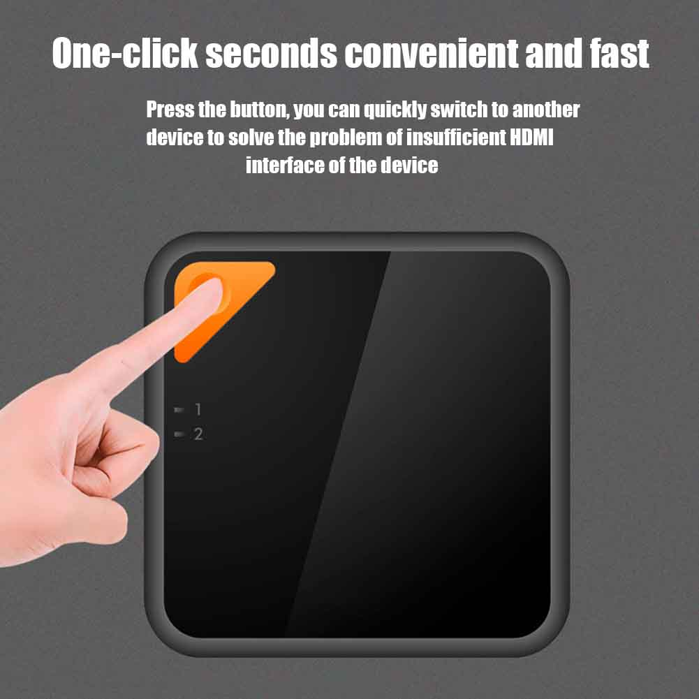 HD 4K 2 In 1 Out Bi Direction Vedio Multimedia HDMI Switcher Plug And Play Port Home Office Sharing Monitor Screen Splitter