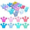 BOBO. BOX, 10 шт., детские игрушки для прорезывания зубов, корона, силиконовые бусины, пищевой силикон, сделай сам, пустышка, цепочка, подвеска, аксессуары, Детские Прорезыватели - фото