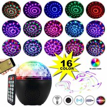 Party-Lights Disco Ball USB Projector Dj-Lights Sound Activated Rotating Disco Ball Party Lamp Strobe Light With Remote Control(China)