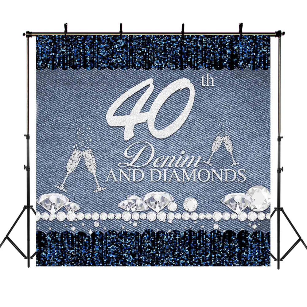 Photo Booth Props EALS547 EARVO 7x5ft Diamond Backdrop High Heels Shining Points Photography Background 30th Birthday Party Polyester Backdrop Wrinkle Resistance