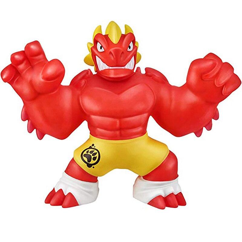 Super heróis go ji jogos z figuras de ação super elástico animal lobo boneca borracha homem espremer descompressão respiradouro brinquedo para crianças presente