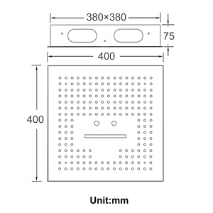 Image 5 - אמבטיה 3 פונקציות Led מקלחות 16 אינץ גשם מקלחת ראש 304 נירוסטה תקרת כיכר ספא מפל מקלחות פנל