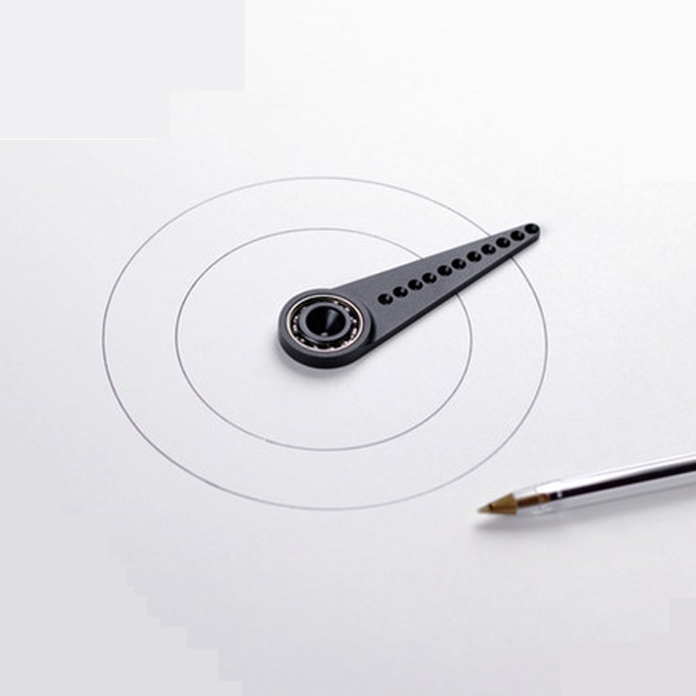 Metal Compasses Creative Multifunctional Drawing Tool Ruler Without Holes Drawing Circle Tool