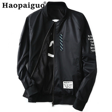 купить Winter Autumn Mens Jacket Stand Collar Windbreaker Male Black Baseball Jackets Casual Thin Both Side Wear Men Pilot Jackets дешево