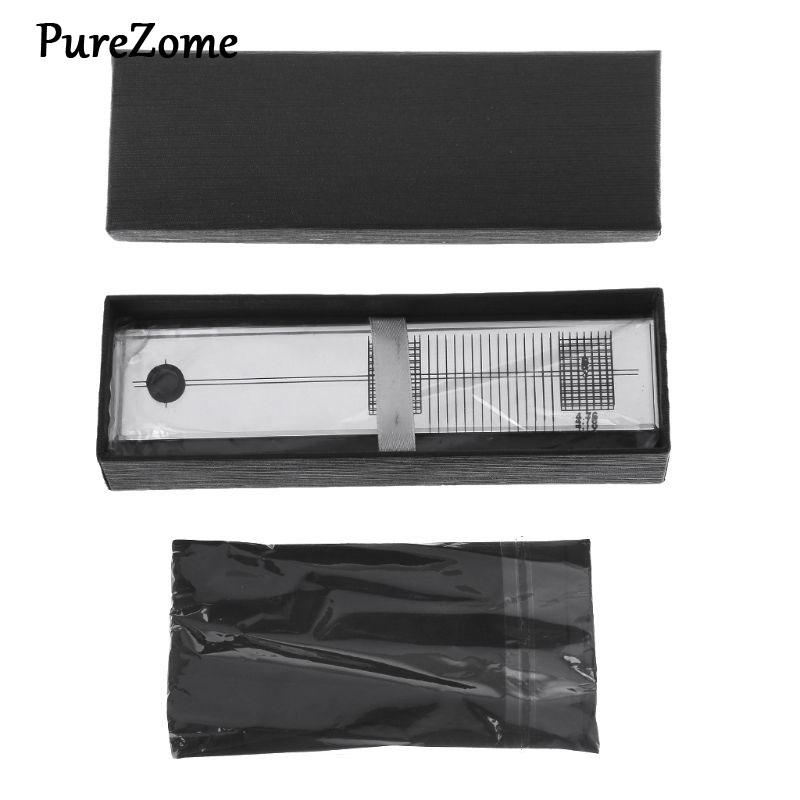 Turntable Phono Phonograph Cartridge Adjustment Ruler Calibration Gauge LP Stylus Alignment Protractor Tool Mirror Azimuth Compe