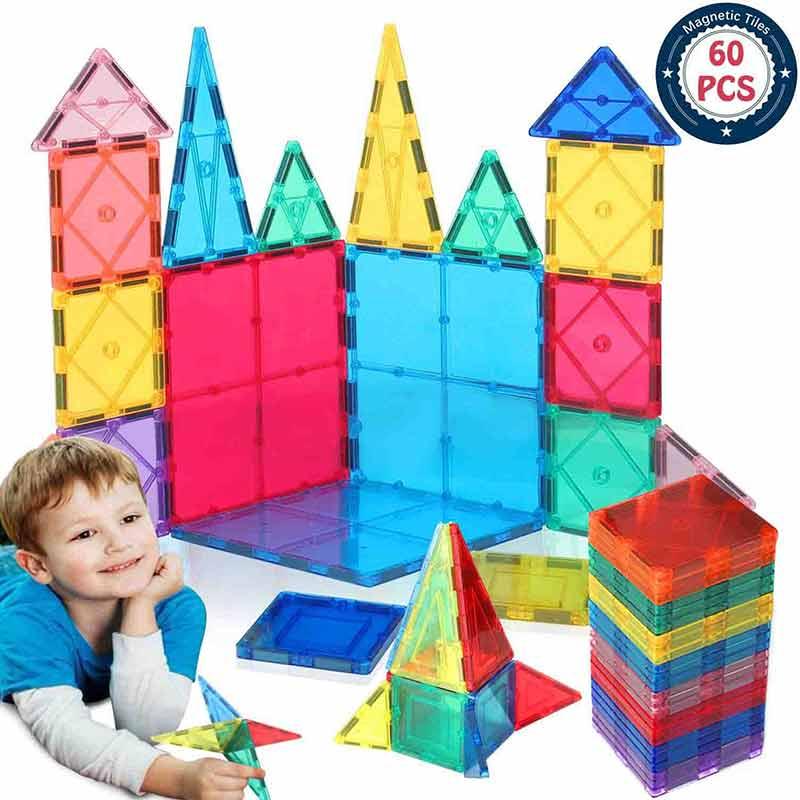 60pcs magnetic blocks Children's Intellectual Magnetic Building Blocks Multi-Type Fun Toys Box magnetic toys