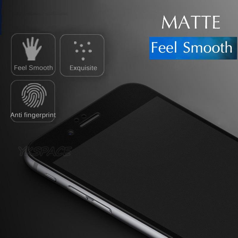9H 2.5D matowy matowy pełna pokrywa szkło hartowane Screen Protector dla iPhone X XS MAX XR 10 8 7 6s 6 Plus 7Plus anty odciski palców 3