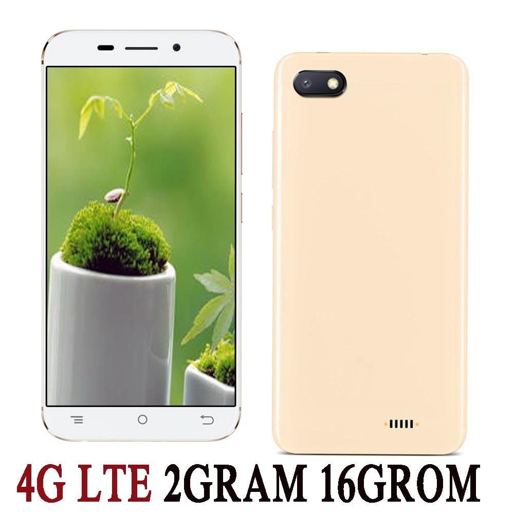 Мобильный телефон 4G LTE 2 Гб ОЗУ 16 Гб ПЗУ четырехъядерный 5i сотовые телефоны 5,0 дюймов сотовые телефоны Android 6,0 телефон 2 Мп + 5 Мп HD фронтальная/з...