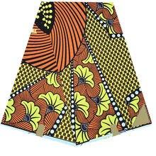 Ткань с принтом воска Анкары оптовая цена африканская ткань