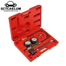 TU 21 Benzin Motor Zylinder Compression Leck Detektor Tester Messer Werkzeug Kit ST0199
