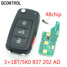 QCONTROL 3+1 BT Car Remote Key 433 MHz for VW Sharan Multivan Caravelle Car Key Remote Control Replacement 5K0 837 202 AD