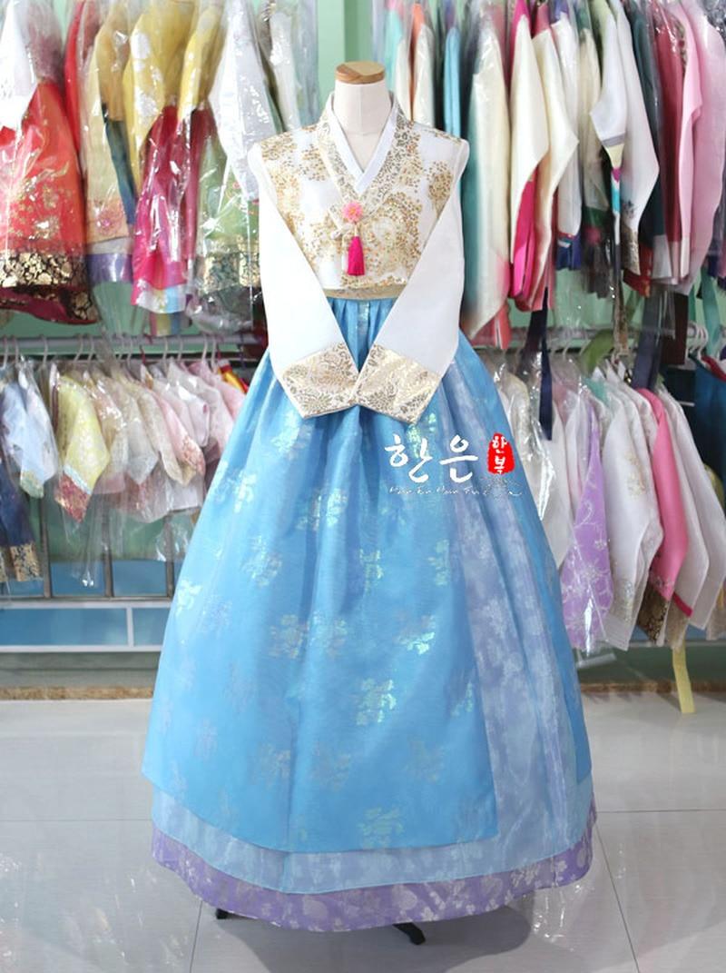 South Korea Imported Fabrics / South Korea's Latest Improved Hanbok / Stage Costumes /