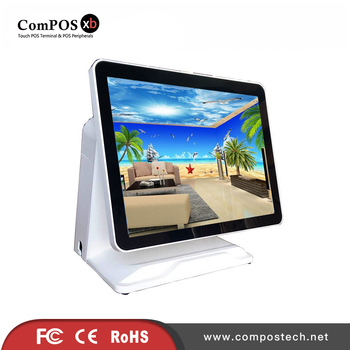Multifunction POS terminal 15 inch capacitive touch screen POS machine for supermarket