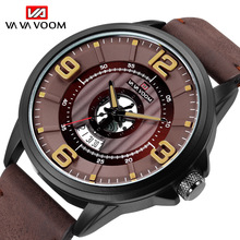 Creative Watch Men Casual Business Leather Watch Fashion Sports Quartz Wristwatches Waterproof Date Male Clock reloj hombre xfcs цена и фото