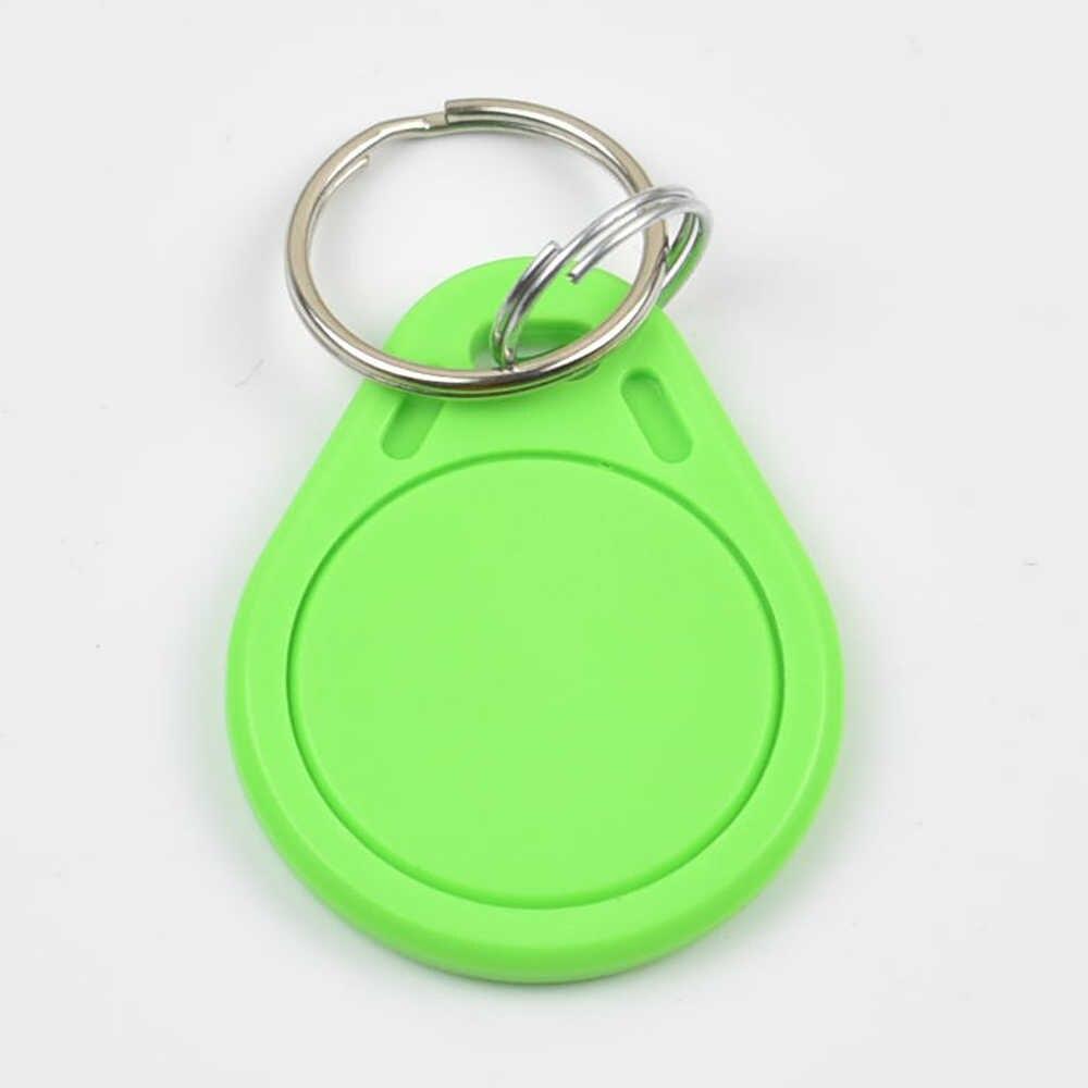 10pcs RFID Key Fobs CHAIN 125KHz ABS Key Tags Rewritable Access Control ATMEL T5577 โรงแรมประตูล็อค
