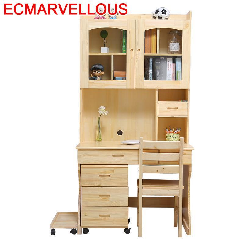 Pliante Lap Tisch Small Bureau Meuble Escritorio Standing Shabby Chic Wood Desk Tablo Mesa Laptop Stand Table With Bookcase