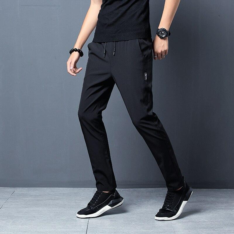 2021 New Men Pants Joggers Fitness Casual Quick Dry Outdoor Sweatpants Breathable Slim Elasticity Trouser Plus Size Men Pants 5