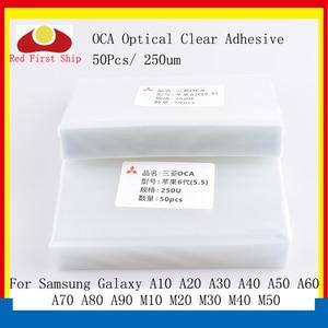 Image 1 - 50 ชิ้น/ล็อต OCA กาวใสกาวสำหรับ Samsung Galaxy A10 A20 A30 A40 A50 A60 A70 A80 A90 M10 M20 m30 M40 M50 OCA กาว
