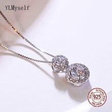Элегантный кулон из настоящего серебра ожерелье хорошее заявление